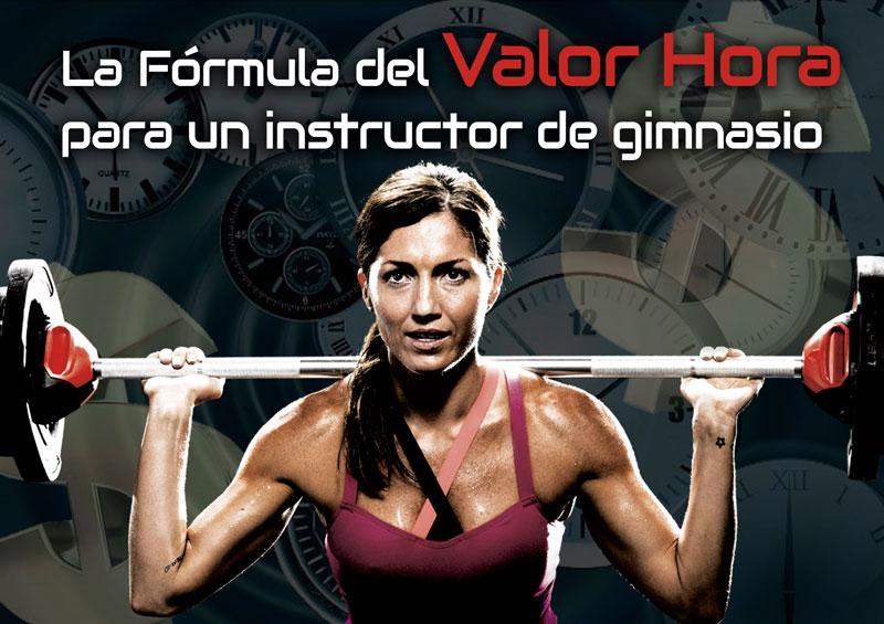La formula del valor hora para un instructor de gimnasio